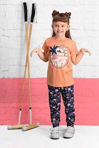 U.S. Polo Assn. U.S. Polo Assn Lisanslı Yavruağzı Kız Çocuk Pijama Takımı Pembe